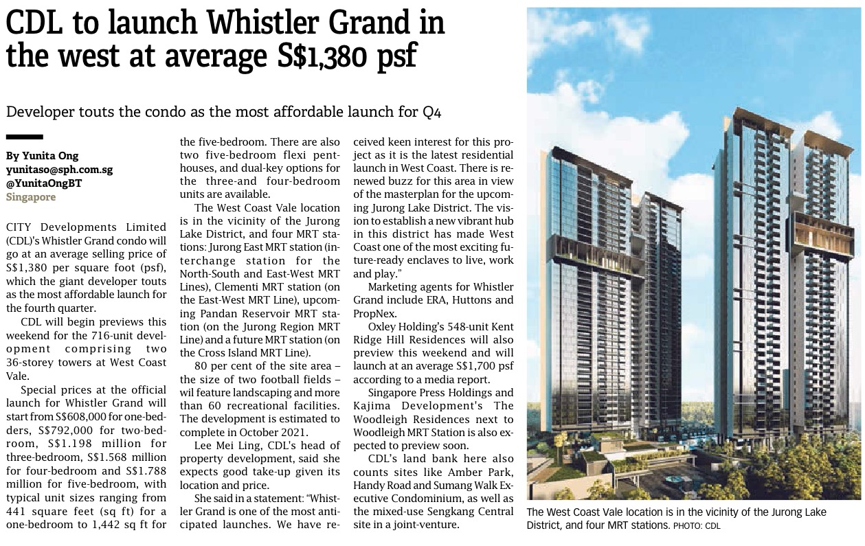 Whistler Grand Newspaper Article